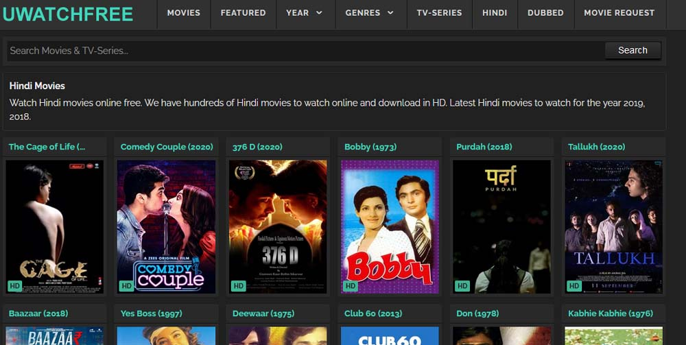 UWatchFree Hindi Alternatives